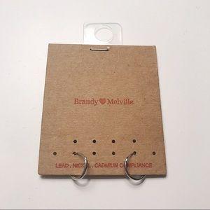 Brandy Melville Silver Hoop Earrings